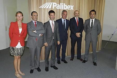Directivos de la nueva empresa de paletería Palibex
