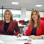 Ana López y Patricia Jiménez, responsables de Administración de Palibex